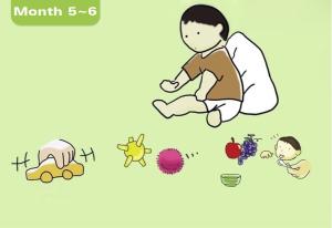 5-6 mois_Développement de bébé